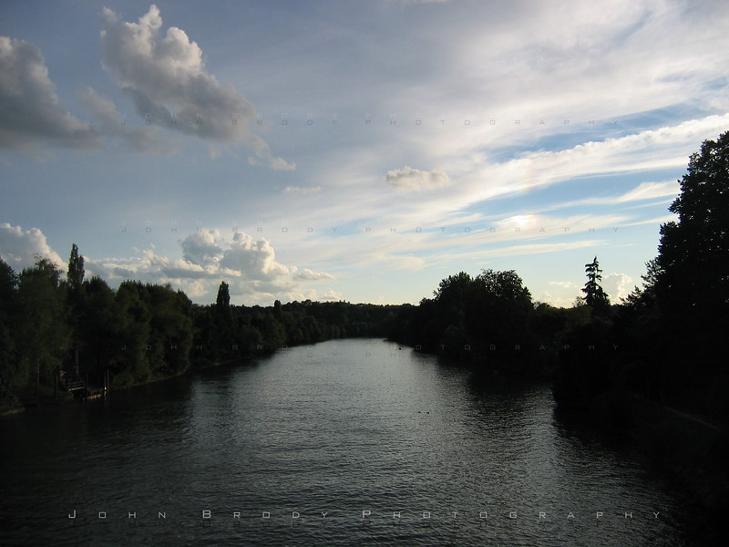 Oise at Auvers - Looking west after sunset. Absolutely beautiful area... You must go there - JohnBrody.com