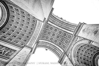 Arc de Triomphe.  Paris, France.