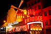 The famous Moulin Rouge nightclub in Paris.