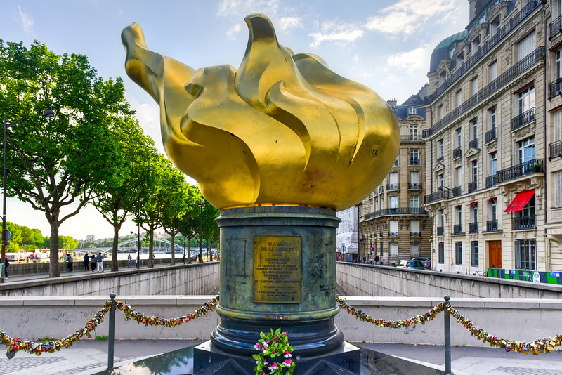 The Flame of Liberty in Paris, France
