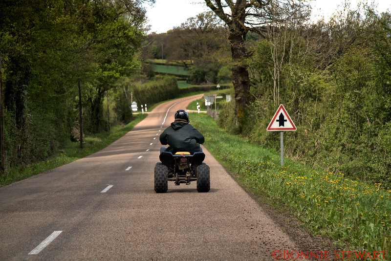 Rural scenic drive in Burgundy