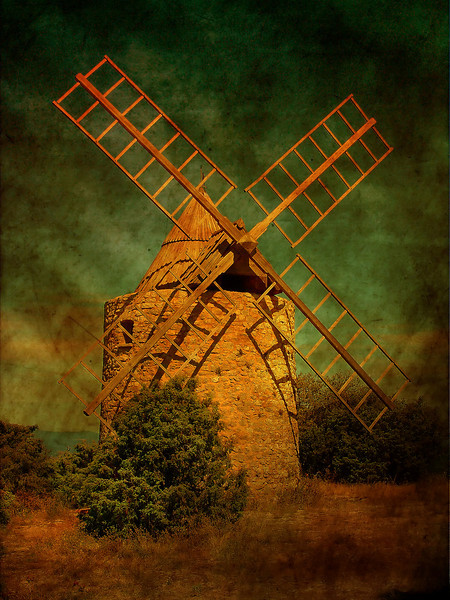 Windmill of St Julien le Montagnier (France)