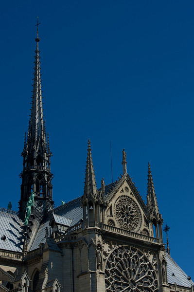 The main tower of Notre Dame.