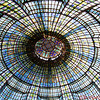 Stained-glass Art Nouveau dome built in 1923 in the Brasserie Printemps Department Store in Paris