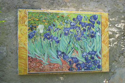 Reproductions of Van Gogh's work are posted around the grounds.