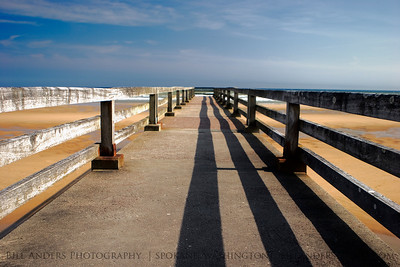 Pier Lines.  Omaha Beach, Normandy, France.