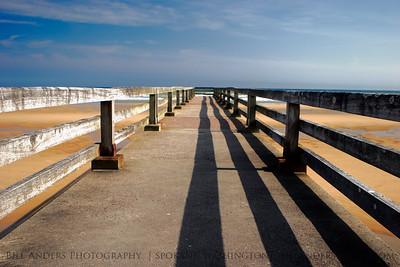 Pier Lines.  Omaha Beach, Normandy, France.