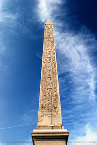 Obelisk of Luxor.  Champs de Elysee, Paris, France.
