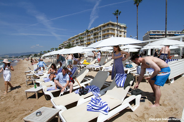Beach reception at Cannes