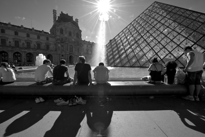 Not many musuems support taking your shoes off, but Paris is different, even at the Louvre.