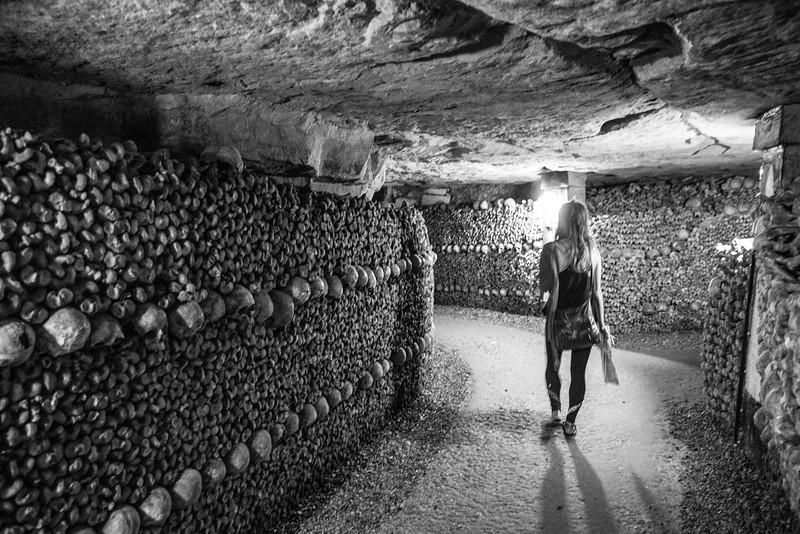 Walking thru the catacombs