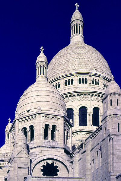 Domes of the Sacre Coeur Cathedral, Montmartre, Paris.