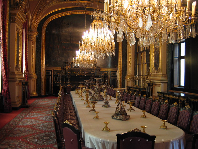 Big ol dinner table at the Louvre Paris where Napolean the 3rd impressed all comers.... I prefered the Toupary mentioned in a previous photo - JohnBrody.com