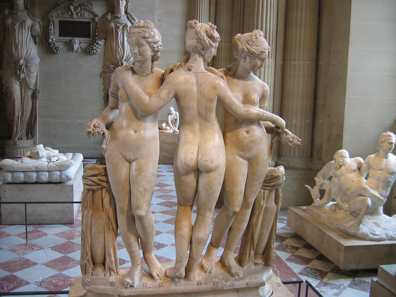 The Three Nymphs in the 'Diana Room' - Dedicated by some historical monarch to his girlfriend, a definite irritation to his wife - JohnBrody.com