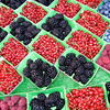 Fresh berries in the markets in Aix