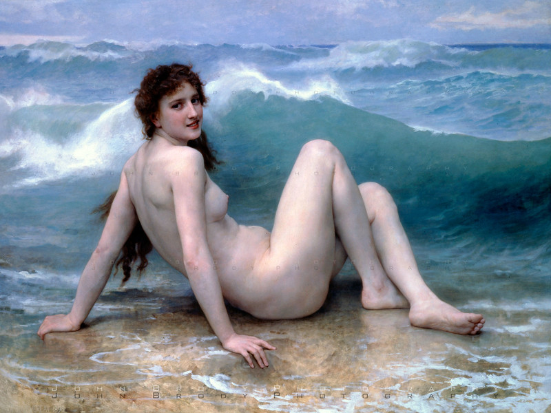 """The Wave by painter William Bouguereau"""" - JohnBrody.com"""