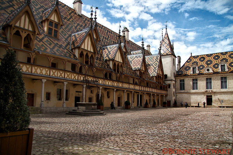 Musee de l'Hôtel-Dieu, historic hospital that dates back to 1443.  Currently a museum and retirement home