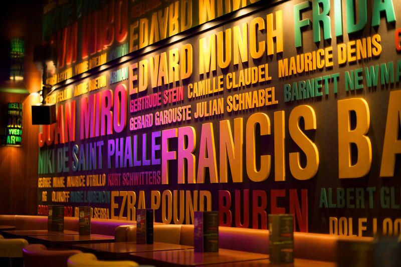 stylish cafes and bars