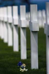 Rememberance.  Normandy American Cemetery and Memorial, Omaha Beach, Normandy, France.