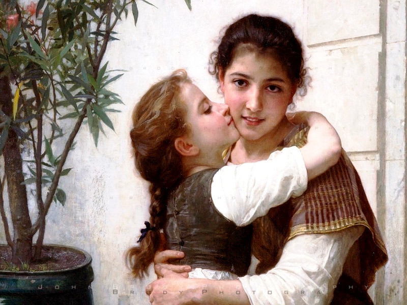 A Little Coaxing by painter William Bouguereau 1890 - JohnBrody.com