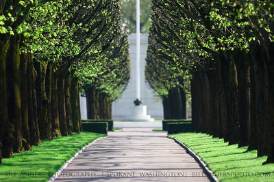 Memorial Walk.  St. Mihiel American Cemetery and Memorial, Thiaucourt (Meurthe-et-Moselle), France.  The cemetery contains the graves of 4,153 American soldiers who fought in defense of France during World War I.