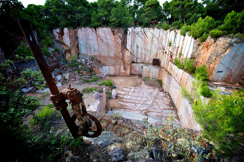red marble quarry.