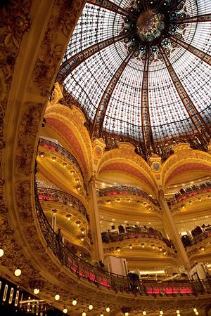 Interiors of Galeries Lafayette