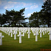 Normandy American Cemetery and Memorial, World War II, D-Day casualties, established by the U.S. First Army on June 8, 1944.  There were 9,387 dead