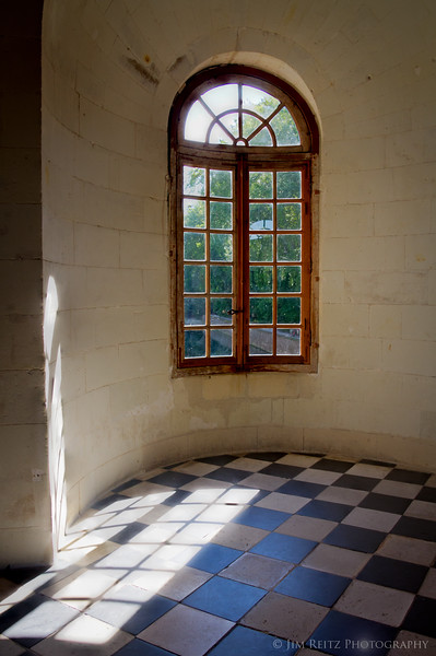 Tranquil light filters thru the window, Chateau Chenonceau.