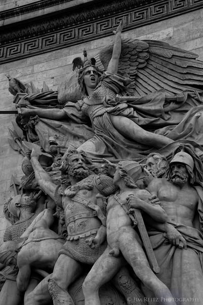 Detail of sculpture on the Arc de Triompe.