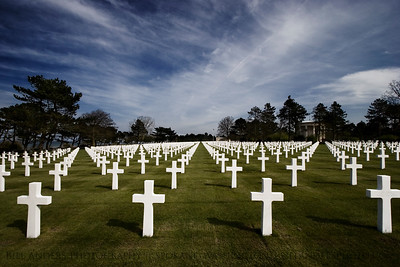9,387  Normandy American Cemetery and Memorial, Omaha Beach, Normandy, France.