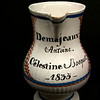 Wine vessel dated 1835