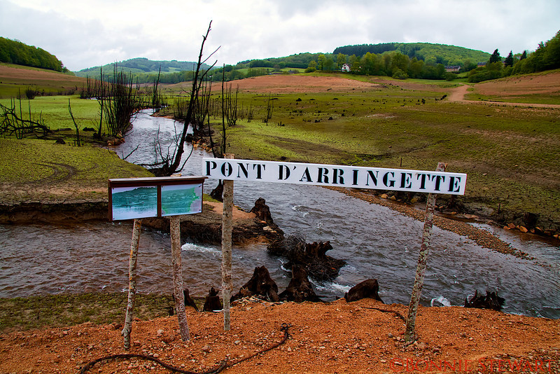 Bottom of Lake Panneciere in Chaumard when it was drained to fix the dam in 2012