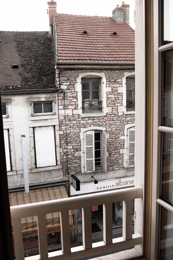 Beaune.  From our window at the Brit Hotel Au Grand Saint Jean.
