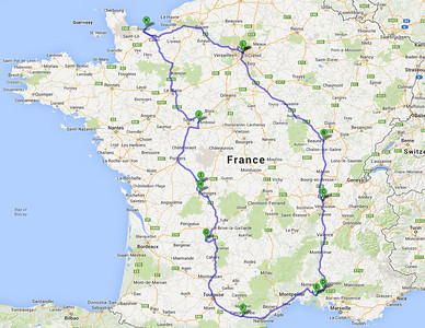 Our 2-week road trip through France. June-July 2011