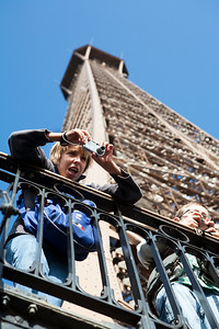 French boys at Eiffel Tower