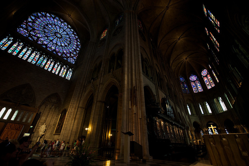 Notre Dame is massive, and dark.