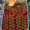 Tomatos on the vine, Vannes market, Britanny, France