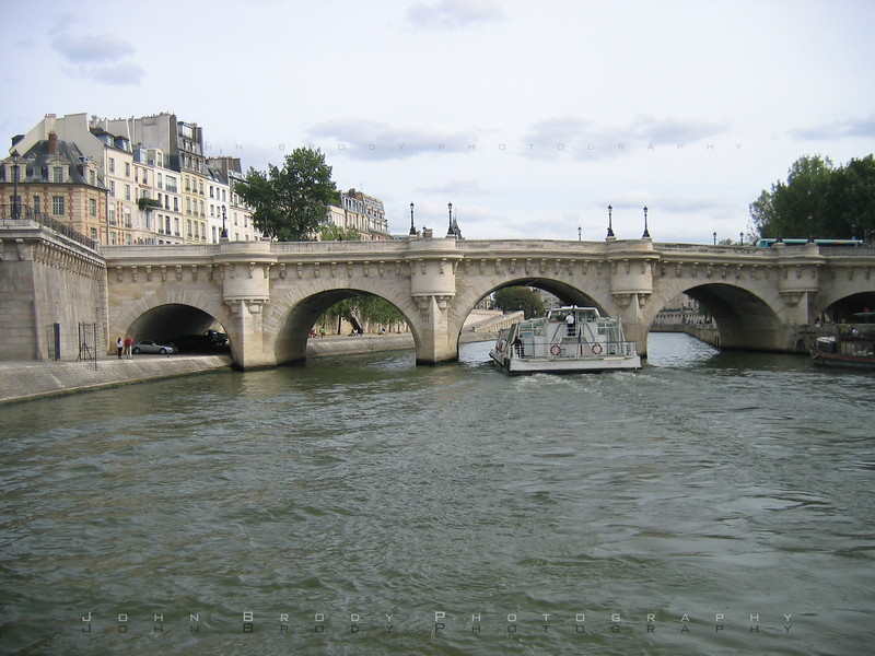 Pont Neuf Bridge from the river Seine - JohnBrody.com