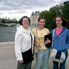 First morning in Paris g standing on Pont Neuf above the Seine.