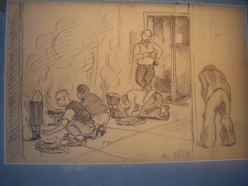 Illustration at Royallieu, the Nazi deportation camp at Compiègne.