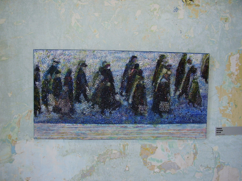 Painting depicting the prisoners at Royallieu.