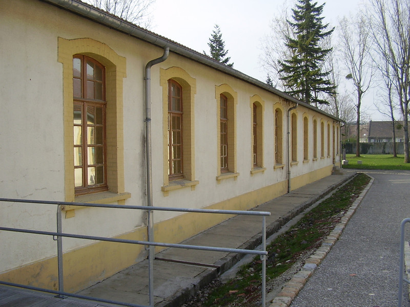 One of the barracks at Royallieu, the Nazi deportation camp at Compiègne.