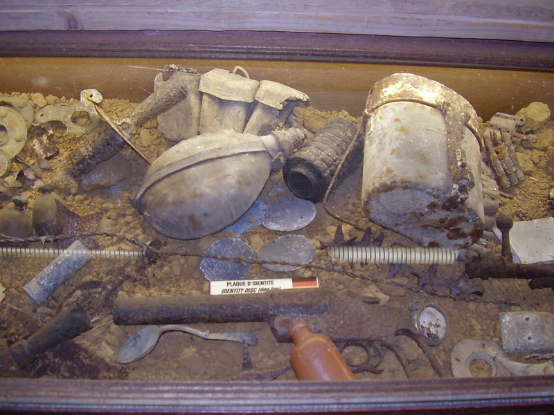 Items from the Somme battlefield.