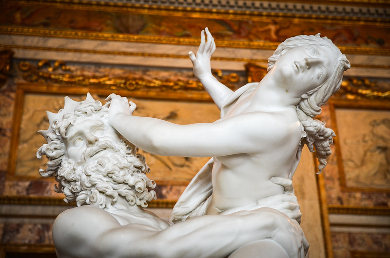 Statues in Galleria Borghese