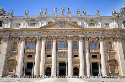 Frontage of St. Peter's Basilica