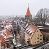 Snowy cityscape