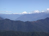 View of the Himalayas at Dochu La Pass