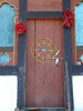 Farmhouse door near Paro