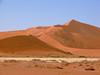 Climbers on 1000' sand dune, Sossusvlei